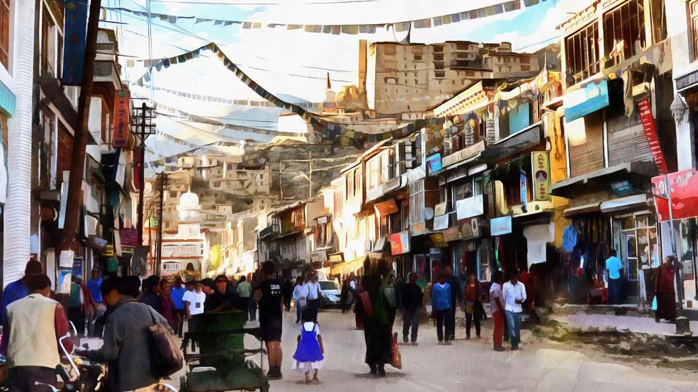 Leh-Bazaar