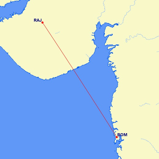 Mumbai Rajkot Flight
