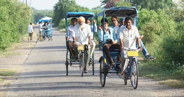 Rickshaw ride in Bharatpur