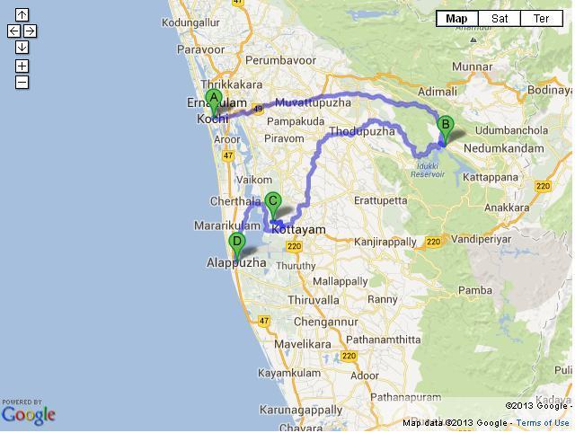 7 Days Cochin Periyar Kumarakom Alleppey Tour
