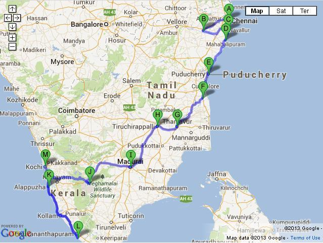 13 Days Glimpses of South India Tour from Chennai