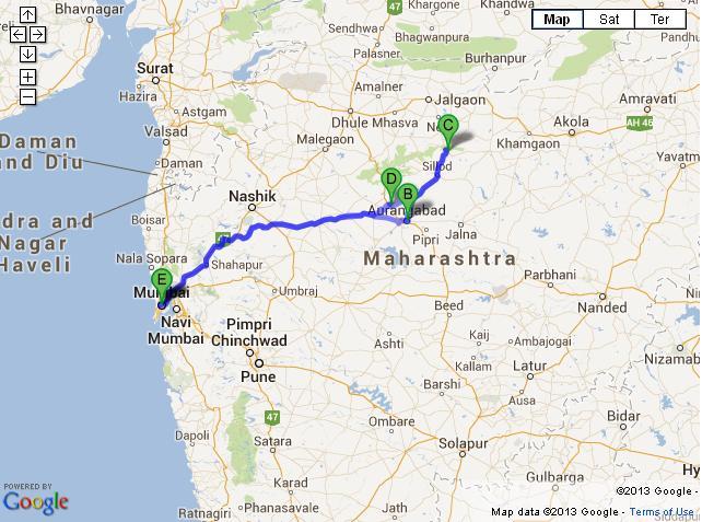 4 Days Ajanta Ellora Caves Tour from Mumbai