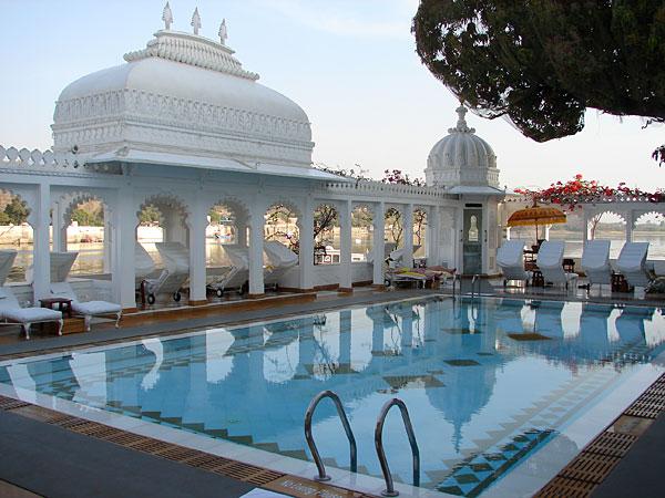 Taj Lake Palace Udaipur pool