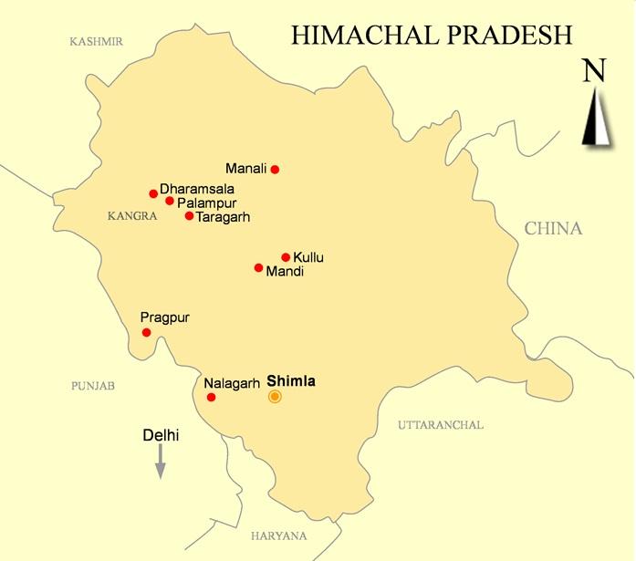 Pragpur Map Himachal Pradesh