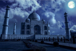 Taj Mahal on a Full Moon Night